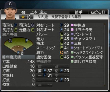 上本 達之 プロ野球スピリッツ2015 ver1.10