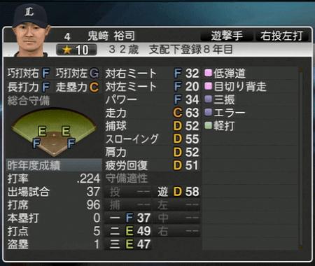 鬼﨑 裕司 プロ野球スピリッツ2015 ver1.10