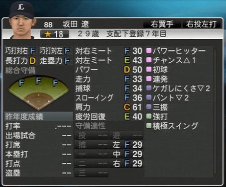 坂田 遼 プロ野球スピリッツ2015 ver1.10