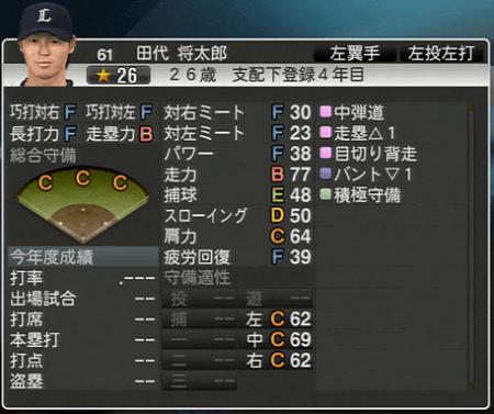 田代 将太郎 プロ野球スピリッツ2015 ver1.10