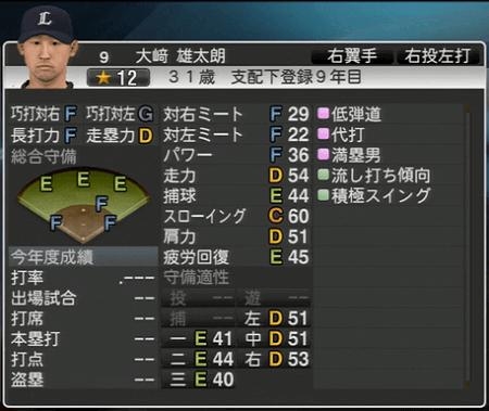 大﨑 雄太朗 プロ野球スピリッツ2015 ver1.10