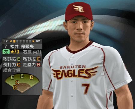 松井 稼頭央 プロ野球スピリッツ2015 ver1.10