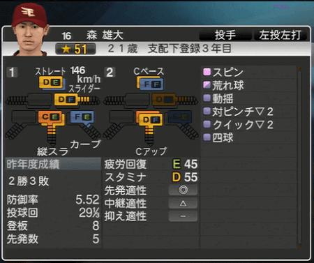 森 雄大 プロ野球スピリッツ2015 ver1.10