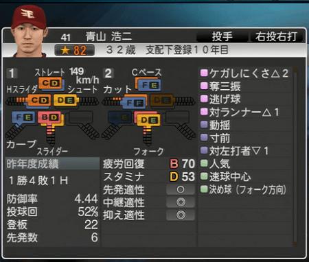 青山 浩二プロ野球スピリッツ2015 ver1.10