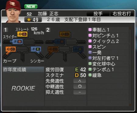 加藤 正志 プロ野球スピリッツ2015 ver1.10