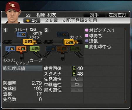 相原 和友 プロ野球スピリッツ2015 ver1.10
