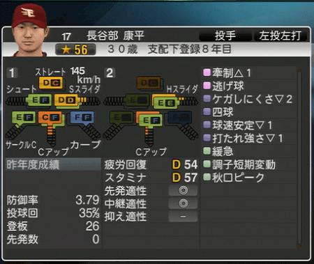 長谷部 康平 プロ野球スピリッツ2015 ver1.10