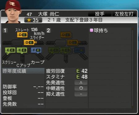 大塚 尚仁 プロ野球スピリッツ2015 ver1.10