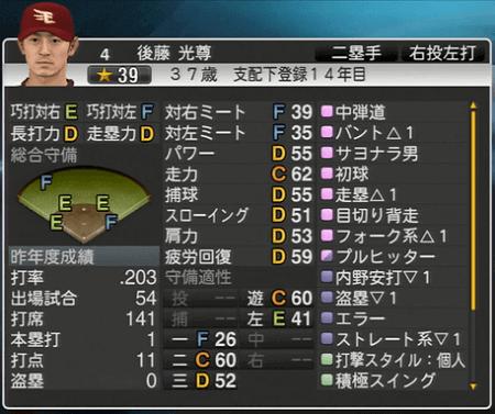 後藤 光尊 プロ野球スピリッツ2015 ver1.10