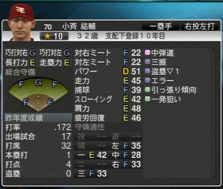 小斉 祐輔 プロ野球スピリッツ2015 ver1.10