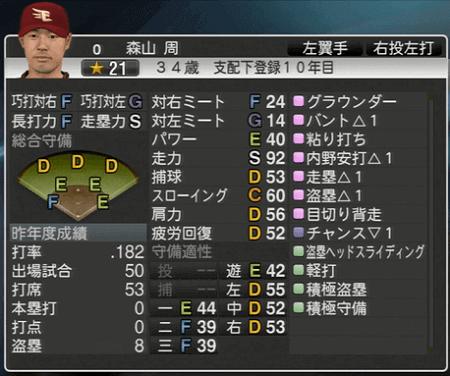 森山 周 プロ野球スピリッツ2015 ver1.10