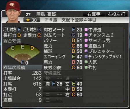 岡島 豪郎 プロ野球スピリッツ2015 ver1.10