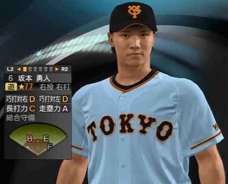 坂本勇人 能力一覧 プロ野球スピリッツ2015 ver1.10