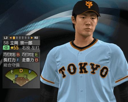 立岡宗一郎 プロ野球スピリッツ2015 ver1.10