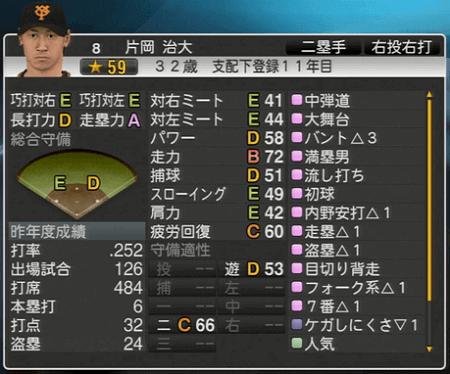 片岡治大 プロ野球スピリッツ2015 ver1.10