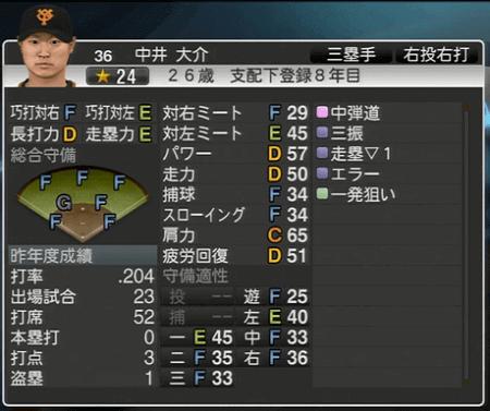 中井大介 プロ野球スピリッツ2015 ver1.10