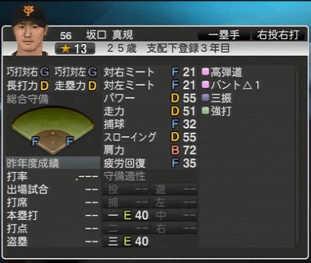 坂口真規 プロ野球スピリッツ2015 ver1.10