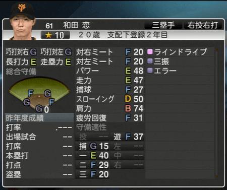 和田恋 プロ野球スピリッツ2015 ver1.10