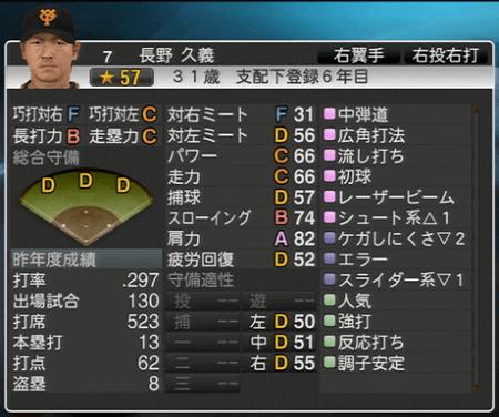 長野久義 プロ野球スピリッツ2015 ver1.10