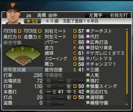 高橋由伸 プロ野球スピリッツ2015 ver1.10