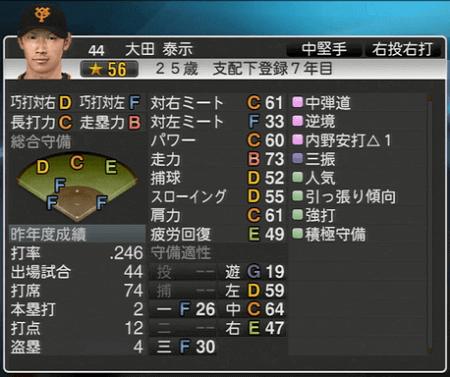 大田秦示 プロ野球スピリッツ2015 ver1.10