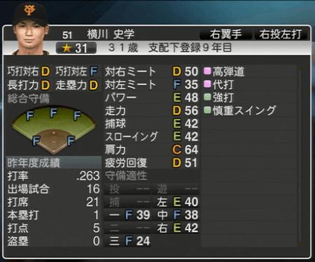 横川史学 プロ野球スピリッツ2015 ver1.10