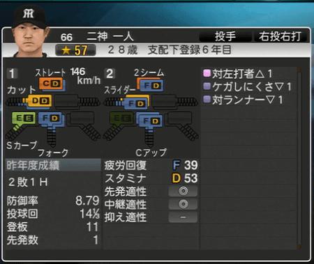 二神一人 プロ野球スピリッツ2015 ver1.10