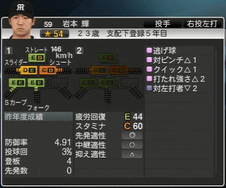 岩本輝 プロ野球スピリッツ2015 ver1.10