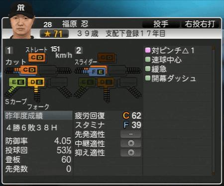 福原忍 プロ野球スピリッツ2015 ver1.10