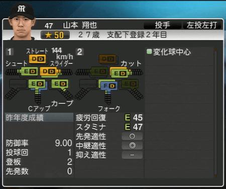 山本翔太 プロ野球スピリッツ2015 ver1.10