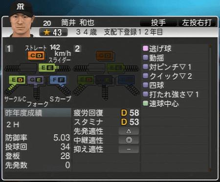 筒井和也 プロ野球スピリッツ2015 ver1.10