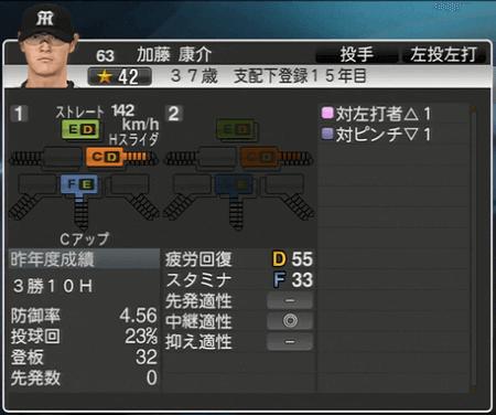 加藤康介 プロ野球スピリッツ2015 ver1.10