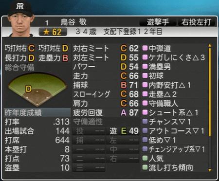 鳥谷敬 プロ野球スピリッツ2015 ver1.10