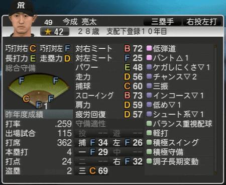 今成亮太 プロ野球スピリッツ2015 ver1.10