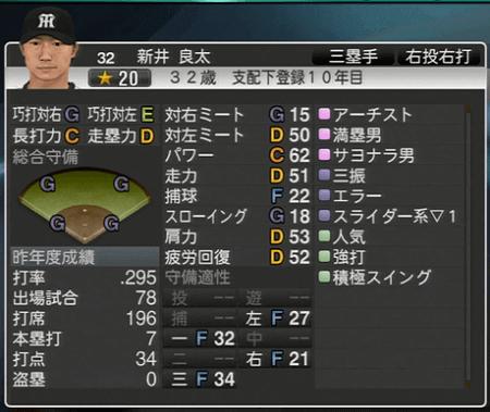 新井良太 プロ野球スピリッツ2015 ver1.10