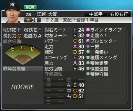 江越大賀 プロ野球スピリッツ2015 ver1.10