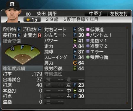 柴田講平 プロ野球スピリッツ2015 ver1.10