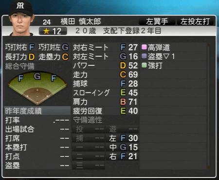 横田慎太郎 プロ野球スピリッツ2015 ver1.10