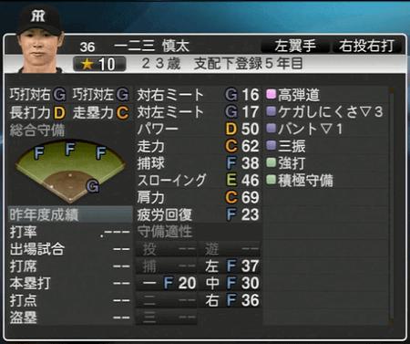一二三慎太 プロ野球スピリッツ2015 ver1.10