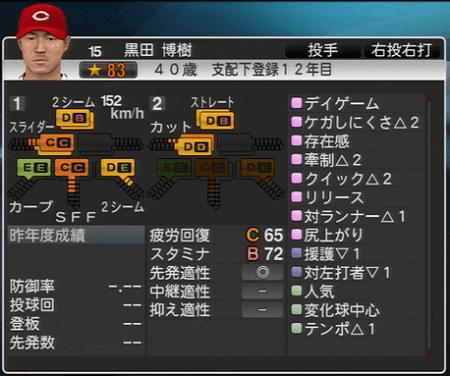 黒田博樹 プロ野球スピリッツ2015 ver1.10