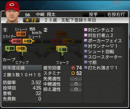 中崎翔太 プロ野球スピリッツ2015 ver1.10