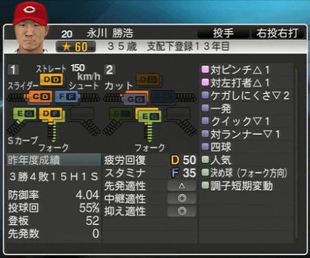 永川勝浩 プロ野球スピリッツ2015 ver1.10