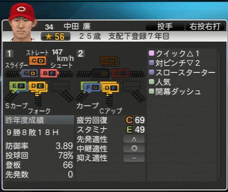 中田廉 プロ野球スピリッツ2015 ver1.10