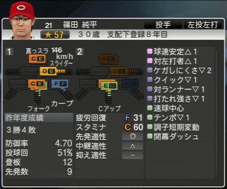 篠田純平 プロ野球スピリッツ2015 ver1.10