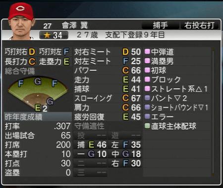 會澤翼 プロ野球スピリッツ2015 ver1.10