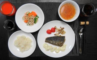 太刀魚と三色野菜のマクロビディナー
