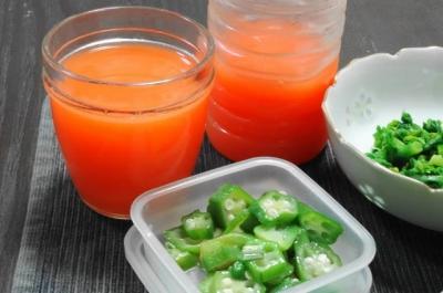 ジュース&冷凍オクラ
