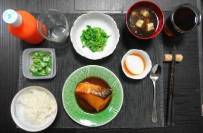 ブリの照り焼き一汁三菜マクロビ御膳