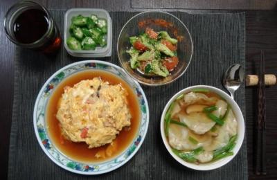 芙蓉蟹・ワンタン、カンタン中華ディナー