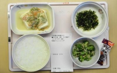 4月10日の夕食 全粥・刻み食